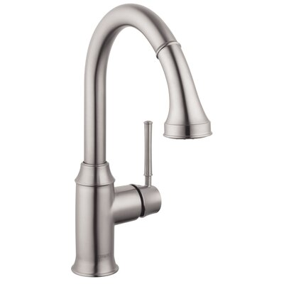 Talis C Prep One Handle Deck Mounted Kitchen Faucet with Pull Down 2 Spray Finish: Steel Optik