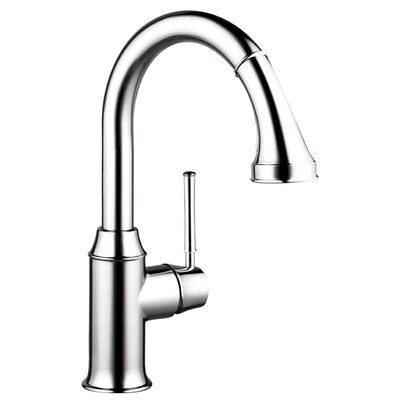 Talis C Prep One Handle Deck Mounted Kitchen Faucet with Pull Down 2 Spray Finish: Chrome