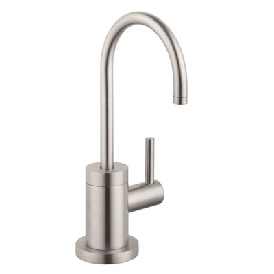Talis S One Handle Deck Mounted Cold Water Dispenser Faucet Finish: Steel Optik