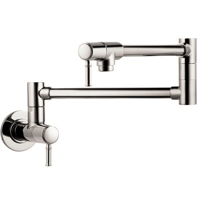 Talis C Pot Filler Finish: Polished Nickel