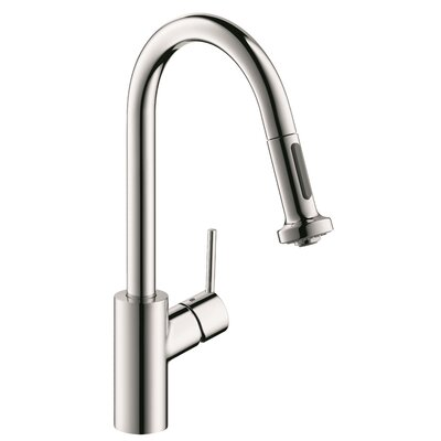 Talis S Pull Down Single Handle Kitchen Faucet Finish: Chrome