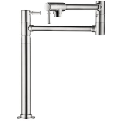 Talis C Single Handle Deck Mounted Pot Fillers Faucet Finish: Chrome