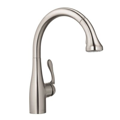 Allegro E One Handle Deck Mounted Bar Faucet with Full Spray and Needle Spray Finish: Steel Optik, Flow Rate: 2.2 GPM