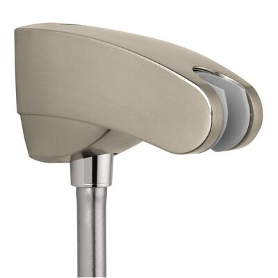 Showerpower Porter E Holder with Outlet Finish: Brushed Nickel