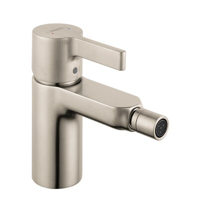 Metris S Single Handle Horizontal Spray Bidet Faucet Finish: Brushed Nickel