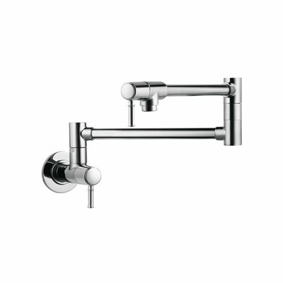 Talis C Two Handle Wall Mounted Pot Fillers Faucet Finish: Chrome