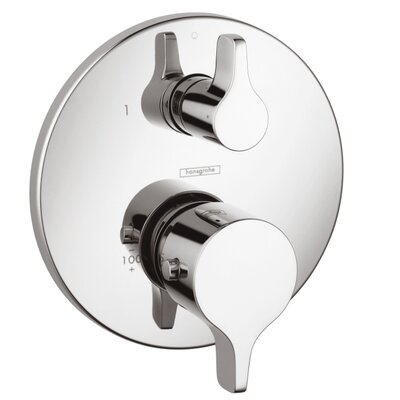 Thermostatic Volume Control Faucet Trim with Lever Handle Finish: Chrome