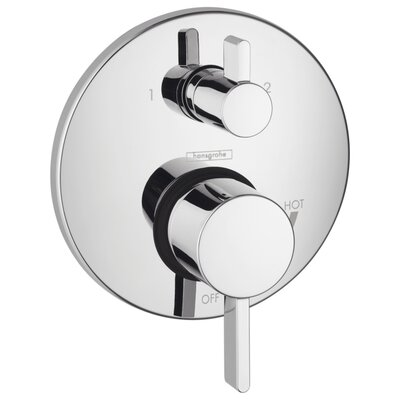 HG S Pressure Balance Diverter Faucet Trim with Lever Handle Finish: Chrome