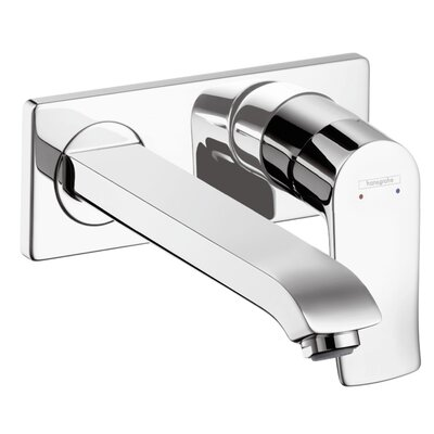 Metris Single Handle Wall Mounted Faucet Trim Finish: Chrome