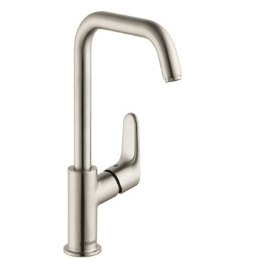 Focus Single Handle Single Hole Standard Bathroom Faucet Finish: Brushed Nickel