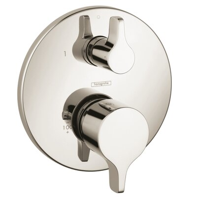 Metris E Pressure Balance Diverter Faucet Trim with Lever Handle Finish: Brushed Nickel