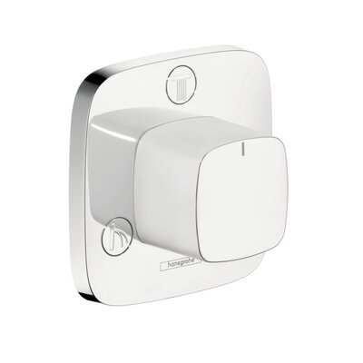 Puravida Trio/Quattro Diverter Faucet Trim Finish: Chrome/White
