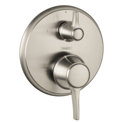 Metris C Pressure Balance Diverter Faucet Trim with Lever Handle Finish: Brushed Nickel