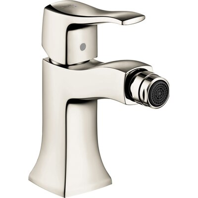 Metris C Single Handle Horizontal Spray Bidet Faucet Finish: Polished Nickel