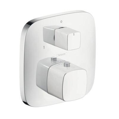 PuraVida Thermostatic Volume Control and Diverter Faucet Trim Finish: Chrome/White