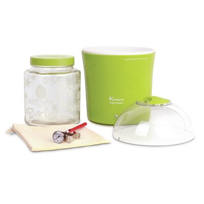 2-qt. Yogurt and Greek Yogurt Maker with Glass Jar Color: Green YM360
