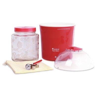 2-qt. Yogurt and Greek Yogurt Maker with Glass Jar Color: Red YM460