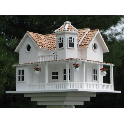 Signature Series 'Post Lane' Cottage 12 in x 16 in x 12 in Birdhouse HB-9042