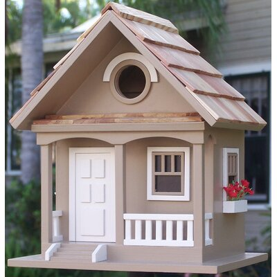 Birds Of A Feather Cottage 9.5 in x 8.5 in x 6.5 in Birdhouse HBB-1002S