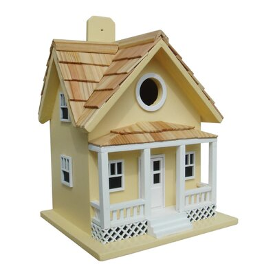 Beachside Cottage 10 in x 9 in x 9 in Birdhouse