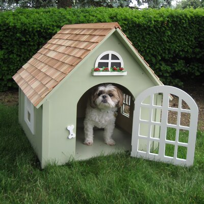 Bark-itecture Victorian Dog House Green