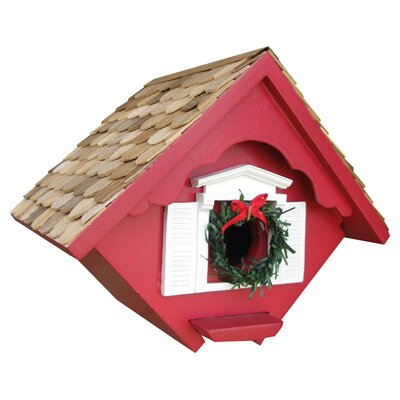 Holiday Offerings Christmas Wren House Color: Holiday Red