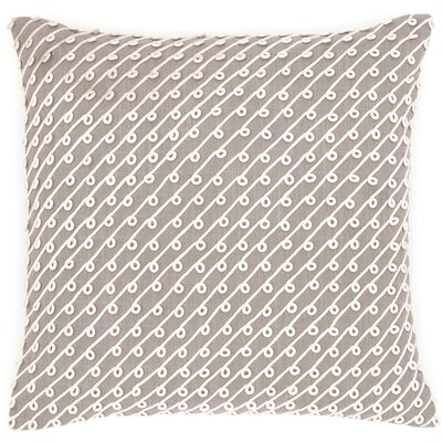 Chadna Cotton Throw Pillow Color: Grey