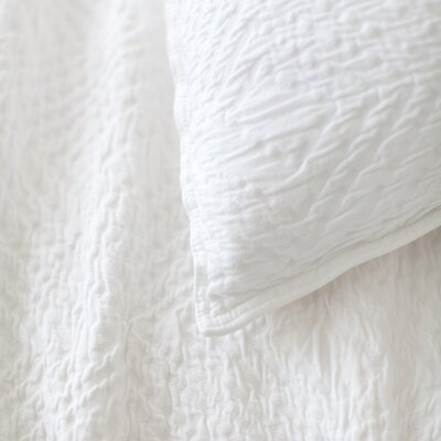Kerala Matelasse Quilt Size: King, Color: White