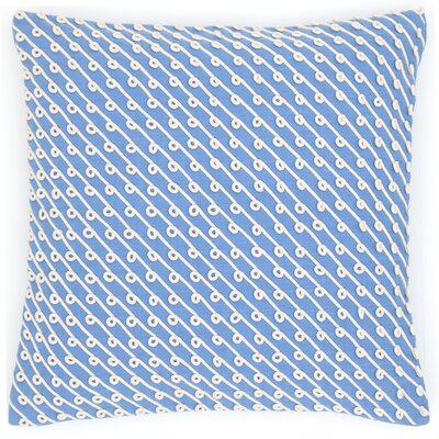 Chadna Cotton Throw Pillow Color: French Blue