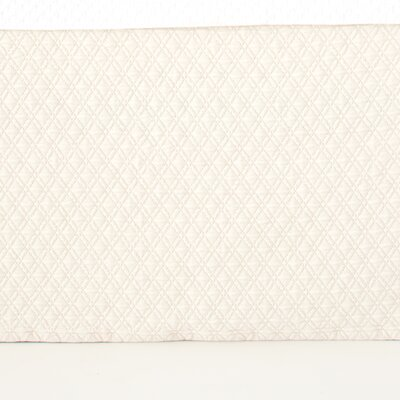 Diamond Matelasse Bed Skirt Color: Ivory, Size: King