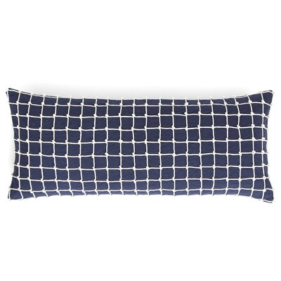 Chadna Cotton Lumbar Pillow Color: Indigo