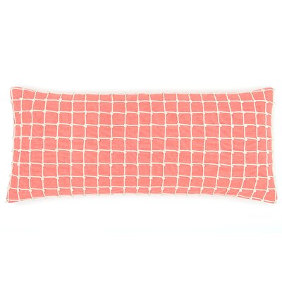 Chadna Cotton Lumbar Pillow Color: Coral