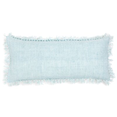 Laundered Linen Lumbar Pillow Color: Sky