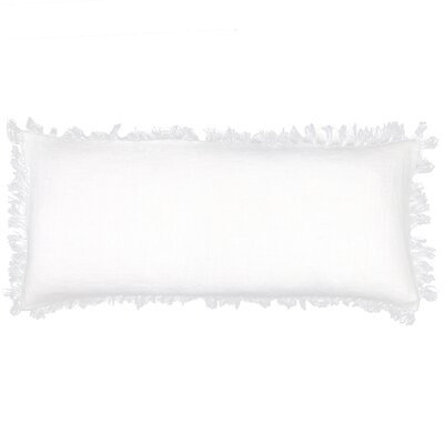 Laundered Linen Lumbar Pillow Color: White