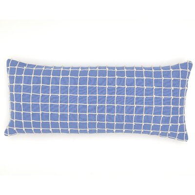 Chadna Cotton Lumbar Pillow Color: French Blue