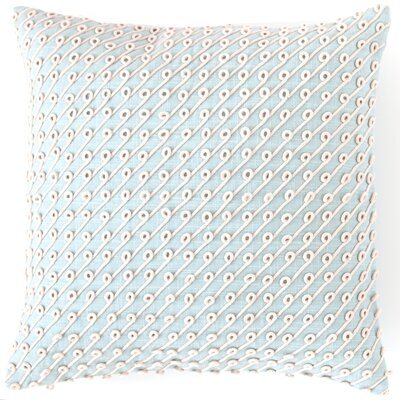 Chadna Cotton Throw Pillow Color: Sky