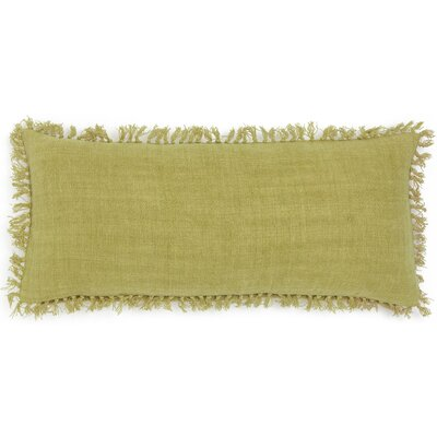Laundered Linen Lumbar Pillow Color: Citrus