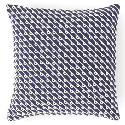 Chadna Cotton Throw Pillow Color: Indigo