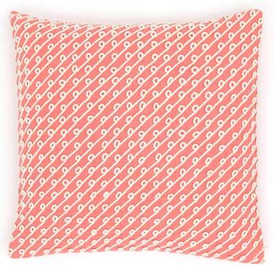 Chadna Cotton Throw Pillow Color: Coral