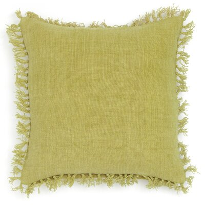 Laundered Linen Throw Pillow Color: Citrus