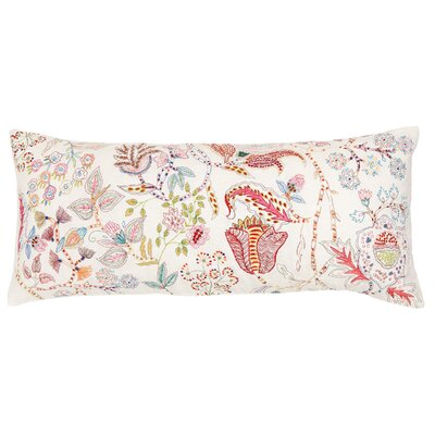 Mirabelle Embroidered Cotton Boudoir Pillow