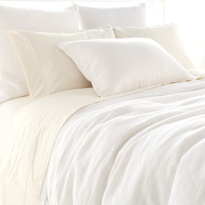 Stone Washed Linen Duvet Cover Size: Full/Queen