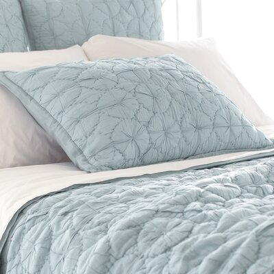 Marina Quilted Sham Size: European, Color: Sky