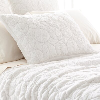 Marina Quilted Sham Size: European, Color: White