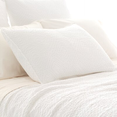 Kerala Matelasse Sham Size: European, Color: White