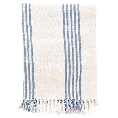 Ibiza Cotton Throw Blanket Color: French Blue