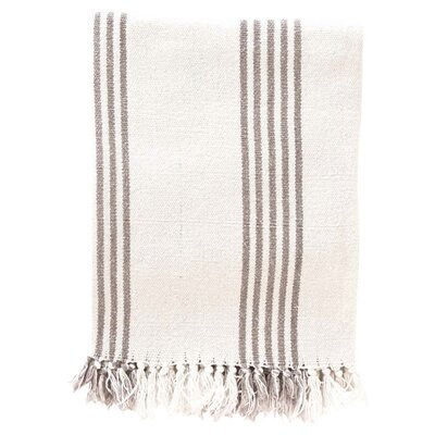 Ibiza Cotton Throw Blanket Color: Shale