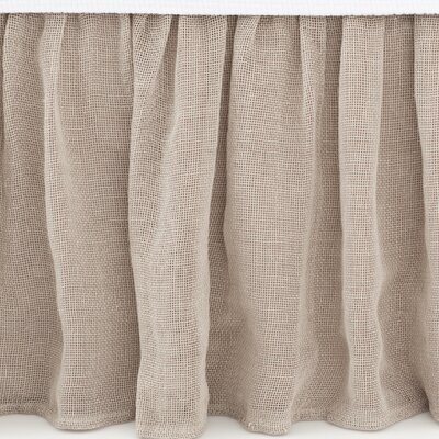 Linen Mesh Bed Skirt Size: Queen