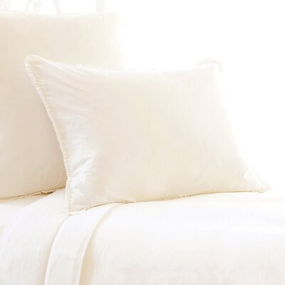 Petite Ruffle 400 Thread Count Sham Size: Euro, Color: Ivory