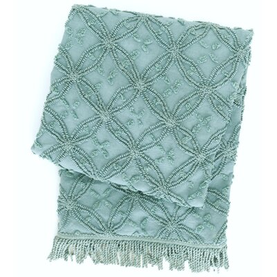 Candlewick Cotton Throw Blanket Color: Mineral